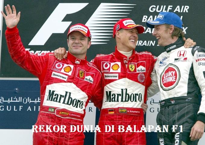 Rekor Dunia Di Balapan F1