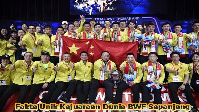 Fakta Unik Kejuaraan Dunia BWF Sepanjang Masa