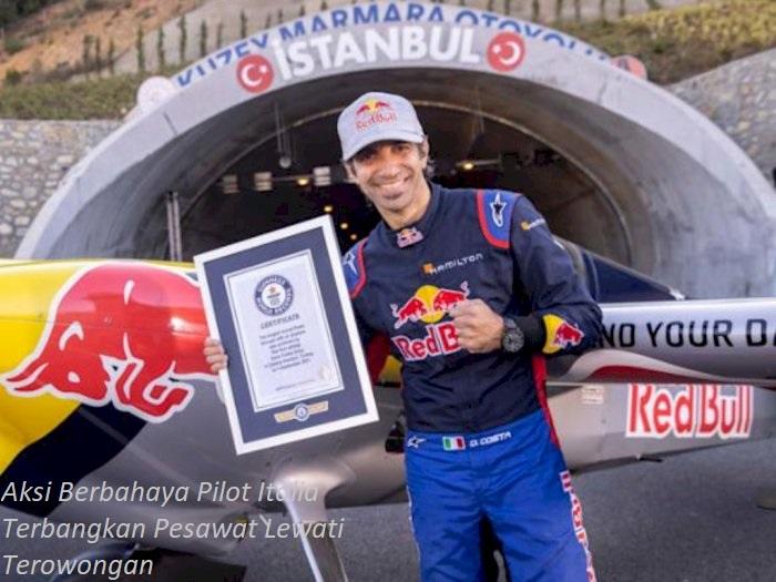 Rekor Dunia Oleh Pilot Italia Melewati Terowongan Terpanjang